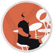 No163 My Phil Collins Minimal Music Poster Round Beach Towel