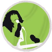 No166 My Rick James Minimal Music Poster Round Beach Towel