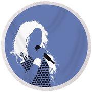No168 My Shakira Minimal Music Poster Round Beach Towel
