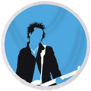 No169 My Sex Pistols Minimal Music Poster Round Beach Towel
