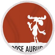 No19 My Minimal Color Code Poster Bullwinkle Round Beach Towel