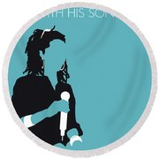 No195 My Lauryn Hill Minimal Music Poster Round Beach Towel
