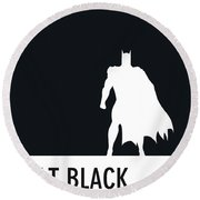 No20 My Minimal Color Code Poster Batman Round Beach Towel