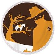 No202 My The Lone Ranger Minimal Movie Poster Round Beach Towel
