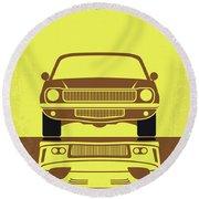No207-3 My Tokyo Drift Minimal Movie Poster Round Beach Towel