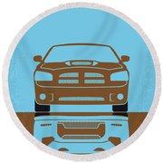 No207-5 My Fast Five Minimal Movie Poster Round Beach Towel