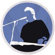 No208 My Jeff Healey Minimal Music Poster Round Beach Towel