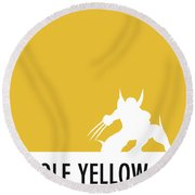 No21 My Minimal Color Code Poster Wolverine Round Beach Towel