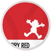 No30 My Minimal Color Code Poster Elmo Round Beach Towel