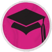 No301 My Legally Blonde Minimal Movie Poster Round Beach Towel