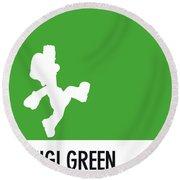 No34 My Minimal Color Code Poster Luigi Round Beach Towel
