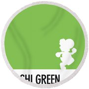 No36 My Minimal Color Code Poster Yoshi Round Beach Towel