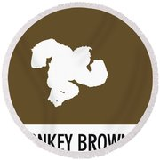 No37 My Minimal Color Code Poster Donkey Kong Round Beach Towel