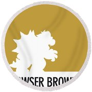 No38 My Minimal Color Code Poster Bowser Round Beach Towel
