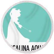 No39 My Minimal Color Code Poster Rosalina Round Beach Towel
