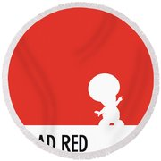 No41 My Minimal Color Code Poster Toad Round Beach Towel