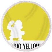 No43 My Minimal Color Code Poster Wario Round Beach Towel