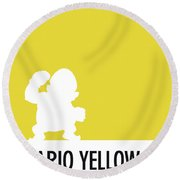 No43 My Minimal Color Code Poster Wario Round Beach Towel
