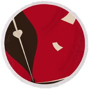 No440 My The Notebook Minimal Movie Poster Round Beach Towel by Chungkong Art