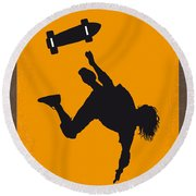 No450 My Dogtown And Z-boys Minimal Movie Poster Round Beach Towel