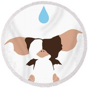 No451 My Gremlins Minimal Movie Poster Round Beach Towel