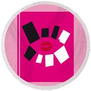 No458 My Mean Girls Minimal Movie Poster Round Beach Towel