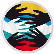 No468 My Y Tu Mama Tambien Minimal Movie Poster Round Beach Towel