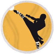 No480 My Shaolin Soccer Minimal Movie Poster Round Beach Towel