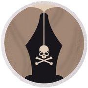 No486 My Dead Poets Society Minimal Movie Poster Round Beach Towel