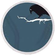 No488 My The Crow Minimal Movie Poster Round Beach Towel