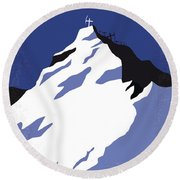 No492 My Everest Minimal Movie Poster Round Beach Towel