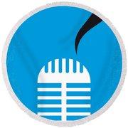 No505 My Cry-baby Minimal Movie Poster Round Beach Towel