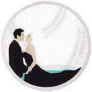 No529 My La Dolce Vita Minimal Movie Poster Round Beach Towel