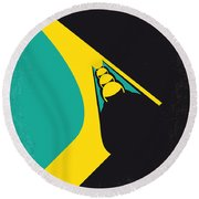 No538 My Cool Runnings Minimal Movie Poster Round Beach Towel