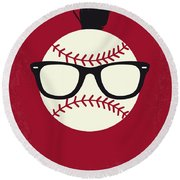 No541 My Major League Minimal Movie Poster Round Beach Towel