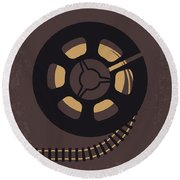 No578 My Super 8 Minimal Movie Poster Round Beach Towel