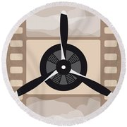 No618 My The Aviator Minimal Movie Poster Round Beach Towel
