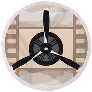 No618 My The Aviator Minimal Movie Poster Round Beach Towel by Chungkong Art