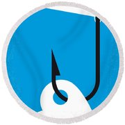 No625 My Splash Minimal Movie Poster Round Beach Towel