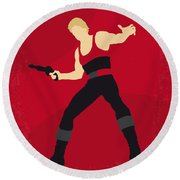 No632 My Flash Gordon Minimal Movie Poster Round Beach Towel