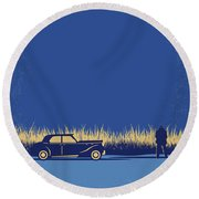 No686-1 My Godfather I Minimal Movie Poster Round Beach Towel