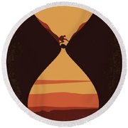 No719 My 127 Hours Minimal Movie Poster Round Beach Towel