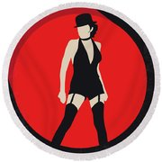 No742 My Cabaret Minimal Movie Poster Round Beach Towel