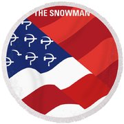 No749 My The Falcon And The Snowman Minimal Movie Poster Round Beach Towel