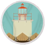 No760 My Moonrise Kingdom Minimal Movie Poster Round Beach Towel
