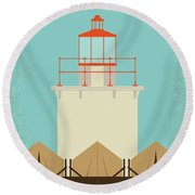 Round Beach Towel featuring the digital art No760 My Moonrise Kingdom Minimal Movie Poster by Chungkong Art