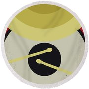 Round Beach Towel featuring the digital art No761 My Whiplash Minimal Movie Poster by Chungkong Art