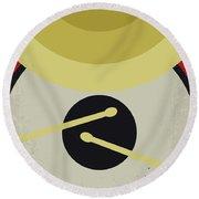 No761 My Whiplash Minimal Movie Poster Round Beach Towel