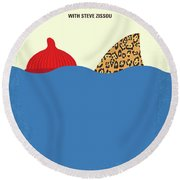 No774 My The Life Aquatic With Steve Zissou Minimal Movie Poster Round Beach Towel