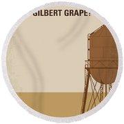 No795 My Whats Eating Gilbert Grape Minimal Movie Poster Round Beach Towel
